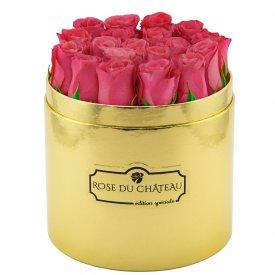 Édition Spéciale Złoty Box z Różowymi Różami Żywymi
