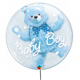 Przeźroczysty Podwójny Balon It's a Boy! 56 cm
