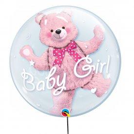 Przeźroczysty Podwójny Balon It's a Girl! 56 cm