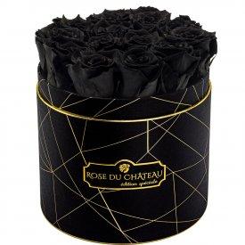 Czarne Wieczne Róże w Czarnym Industrialnym Boxie