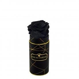 Czarna Wieczna Róża w Czarnym Mini Industrialnym Boxie