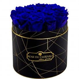Niebieskie Wieczne Róże w Czarnym Industrialnym Boxie