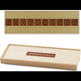 Chocotelegram w Drewnianej Skrzyneczce - Gratulacje