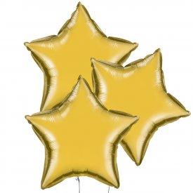 Trzy Złote Balony Gwiazda 46 cm