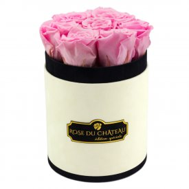 Bladoróżowe Wieczne Róże w Coco Małym Flokowanym Boxie