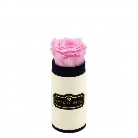 Bladoróżowa Wieczna Róża w Coco Mini Flokowanym Boxie