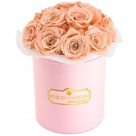 Herbaciane Wieczne Róże Bouquet w Różowym Boxie