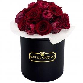 Red Romance Bouquet Wiecznych Kwiatów w Czarnym Boxie