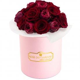 Red Romance Wieczne Piwonie Bouquet w Różowym Boxie