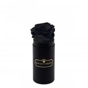 Czarna Wieczna Róża w Czarnym Mini Boxie