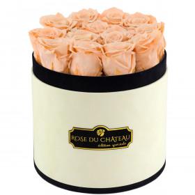 Herbaciane Wieczne Róże w Coco Flokowanym Boxie