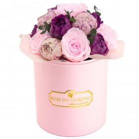 Total Pink Wieczne Piwonie Bouquet w Różowym Boxie