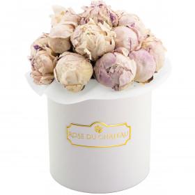 Lovely Peonies Bouquet w Białym Boxie