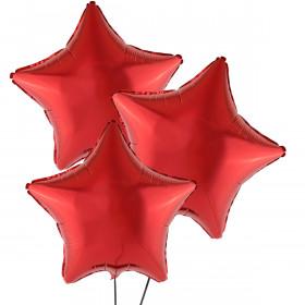 Trzy Czerwone Balony Gwiazda 46 cm