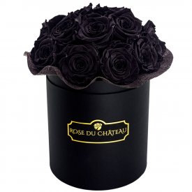 Rose eterne nere in flowerbox nero piccolo