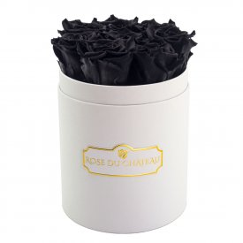 Rose eterne nere in flowerbox bianco piccolo