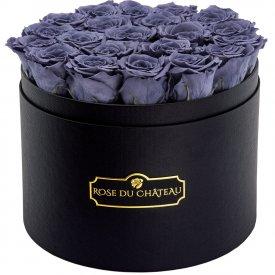 Rose eterne grigie in flowerbox nero grande