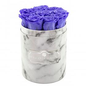 Rose eterne lavanda in flowerbox marmo bianco piccolo