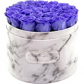 Rose eterne lavanda in flowerbox marmo bianco grande