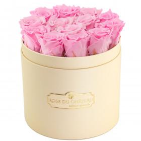 Rose eterne rosa pallido in flowerbox pesca