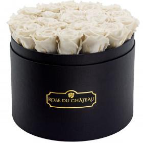Rose eterne bianche in flowerbox nero grande
