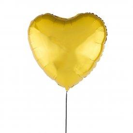 Goldener Luftballon Herz 46 cm