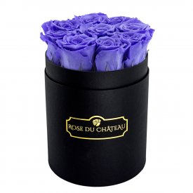Eternity Lavender Roses & Small Black Flowerbox