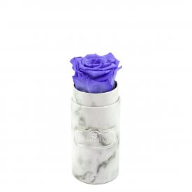 Eternity Lavender Rose & Mini White Marble Flowerbox