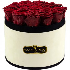Eternity Red Roses & Large Coco Flocked Flowerbox