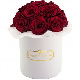 Eternity Red Roses & White Bouquet Flowerbox