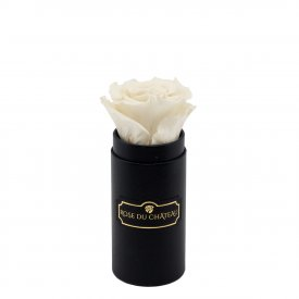 Eternity White Rose & Mini Black Flowerbox