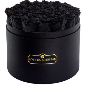 Eternity Black Roses & Large Black Flowerbox