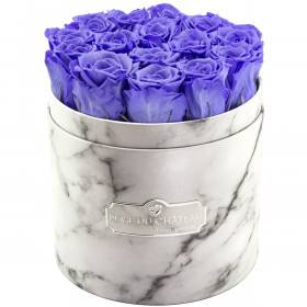 Eternity Lavender Roses & White Marble Flowerbox