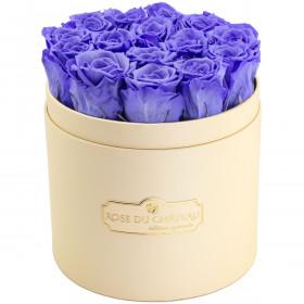 Eternity Lavender Roses & Peach Flowerbox