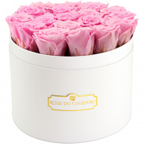 Eternity Pale Pink Roses & Large White Flowerbox