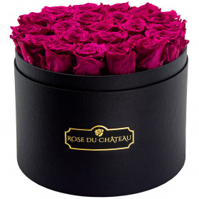Eternity Pink Roses & Large Black Flowerbox