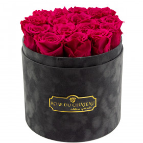 Eternity Pink Roses & Gray Flocked Flowerbox