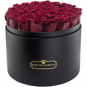 Eternity Red Roses & Mega Black Flowerbox