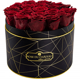 Eternity Red Roses & Black Industrial Flowerbox