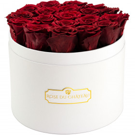 Eternity Red Roses & Large White Flowerbox
