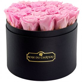 Eternity Pale Pink Roses & Large Black Flowerbox
