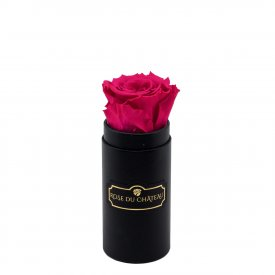 Eternity Pink Rose & Mini Black Flowerbox