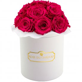 Eternity Pink Roses & White Bouquet  Flowerbox
