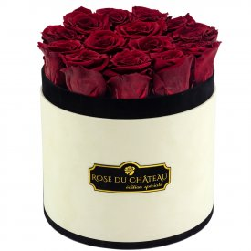 Eternity Red Roses & Coco Flocked Flowerbox