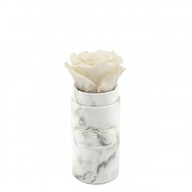 Eternity White Rose & Mini White Marble Flowerbox
