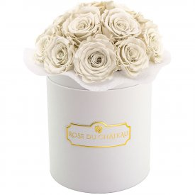 Eternity White Roses & White Bouquet Flowerbox