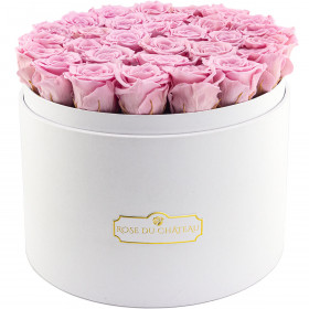 Eternity Palepink Roses & Large White Flowerbox