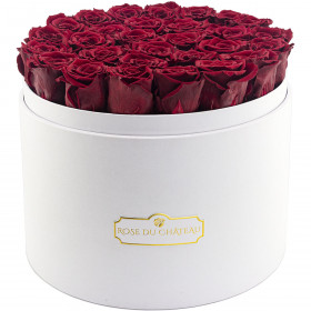 Eternity Red Roses & Mega White Flowerbox